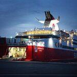 Fährschiff SUPERFAST XII an ihrem Anleger in Rhodos.
