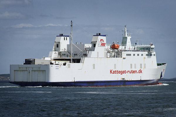 RoPAx-Fähre KATTEGAT im Jahr 2013, die nun als MAROC EXPRESS zwischen Motril und Tanger Med eingesetzt wird.