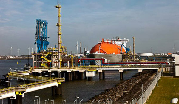 LNG-Tanker Arcic Voyager am GATE-Terminal in Rotterdam.
