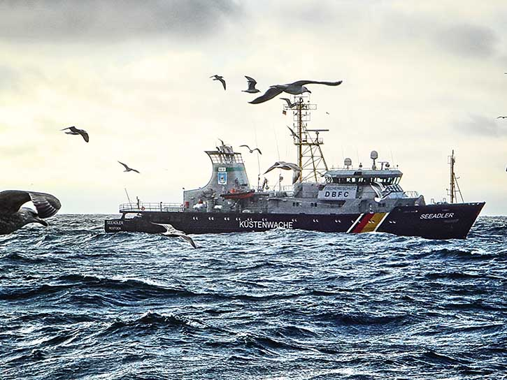 Fischereischutzboot SEEADLER.