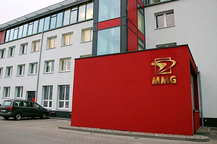 Firmensitz der MMG in Waren im Bundesland Mecklenburg-Vorpommern.