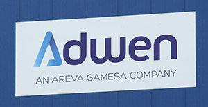 Firmenschild Adwen.