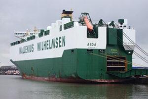 Wallenius Autotransporter AIDA ersetzt COURAGE bei ARC.