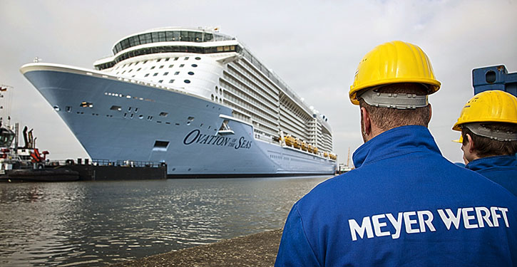 Ovation of the Seas in der Meyer Werft.