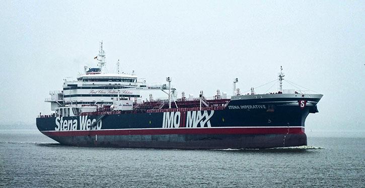 STENA IMPERATIVE vom 14.4.2016 auf der Weser vor Bremerhaven.
