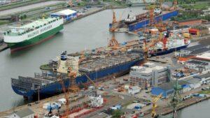 Lloyd Werft in Bremerhaven.