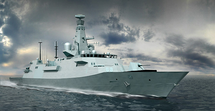 Type 26 Global Combat Ships der britischen Royal Navy.
