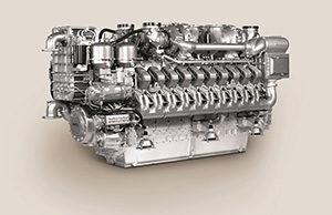MTU-Dieselaggregat.