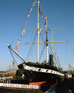 SS GREAT BRITAIN, heute als Hist. Schiff in Bristol zu besichtigen.