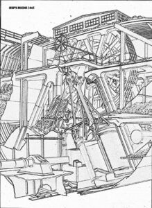 Der Motor der SS GREAT BRITAIN reichte drei Decks hoch und wurde als ein technisches Wunderwerk angesehen.
