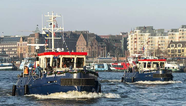 Die beiden Eisbrecher JOHANN REINKE und CHRISTIAN NEHLS, gebaut bei der Hitzler Werft, erweitern das Portfolio der Hamburger Port Authority.