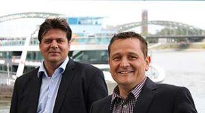 Uwe Israel (linke Seite)) und Stefan Fischer, Geschäftsführer Exomission.