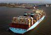 Container Terminal Erstanlauf der Maren Maersk in Bremerhaven.