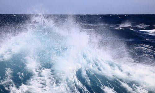 """Aufnahme der Meeresoberfläche in den """"Brüllenden Vierzigern""""."""