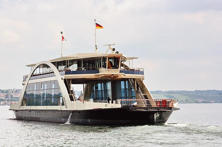 Ab 2019 wird MTU-Gasmotor eine neue Bodenseefähre der Stadtwerke Konstanz antreiben.