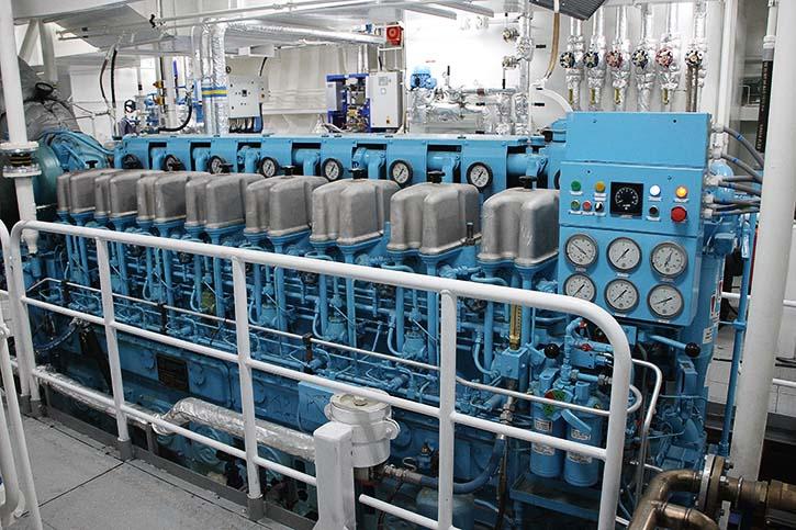 Der 8-Zylinder ABC-Motor vom Typ 8DZC dual-fuel leistet 1.650 kW.