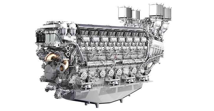 MTU 16-Zylinder-Motor der Baureihe 8000.