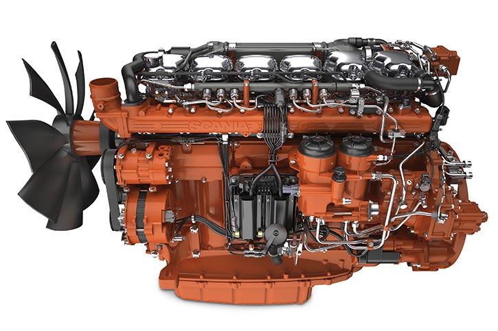 Der Scania DI13 leistet 405 kW.