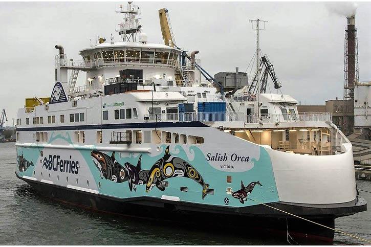 Schiffsbemalung der BC Ferries.