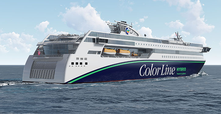 Color Line hybrid vessel
