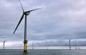 Windturbinen auf See.