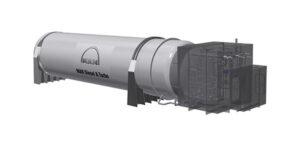 Grafische Darstellung des vakuumisolierten Lagertanks von MAN Cryo