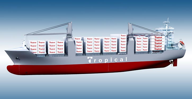1.100-TEU newbuildings ordered by Tropical Shipping.