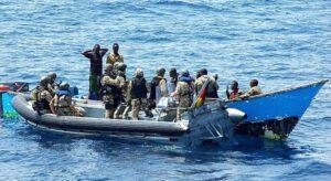German Navy subdue pirates.