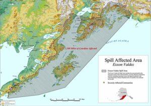 Rund 2,500 km Küstenlinie wurden verseucht.
