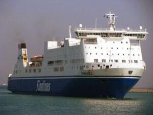Die Ostseefähre FINNEAGLE war für Grimaldi Lines nur aushilfsweise im Einsatz.