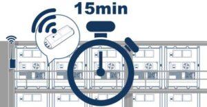 """Einmal angeschlossen übermittelt das """"Tag"""" alle 15 Minuten die relevanten Reefer-Daten per Funk."""