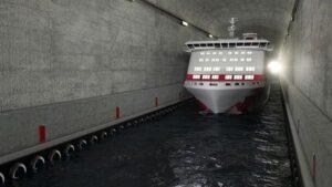 Der Stad Skiptunnel wird der größte Schiffstunnel der Welt.