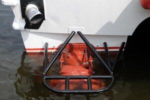 Blick auf einen der beiden neuen Wasserstrahlantriebe