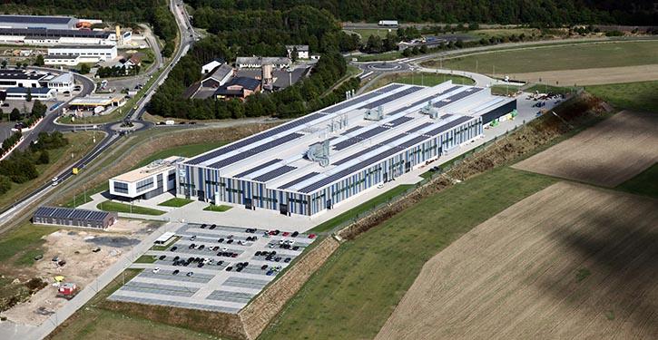Luftaufnahme des neuen SCHOTTEL Werkes in Wörth.
