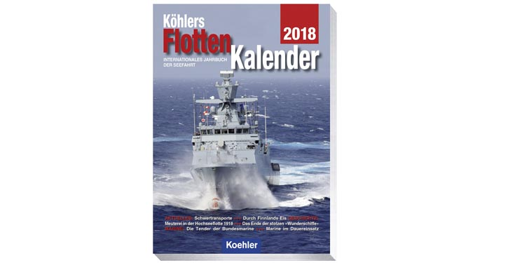 Köhlers Flotten Kalender 2018.