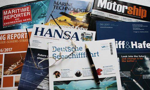 Maritime Fachzeitschriften.