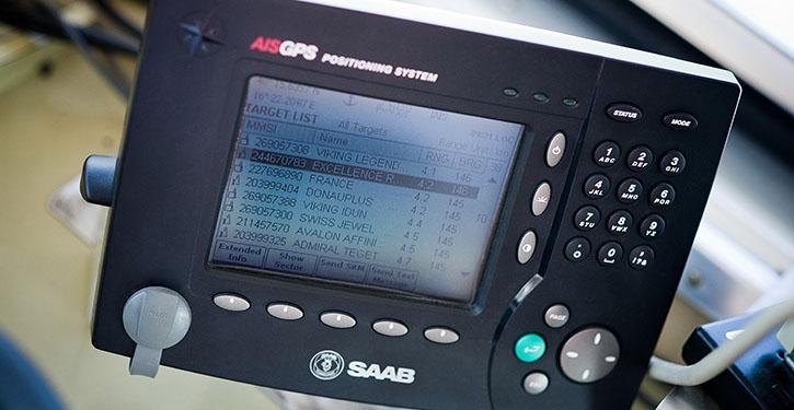Wichtig für aktuelle Verkehrsdaten: Mit AIS-Transpondern wird die Verkehrslage präzise ermittelt.
