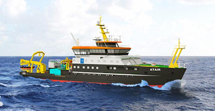 So wird das neue Vermessungs-, Wracksuch- und Forschungsschiff (VWFS) des BSH zukünftig aussehen.