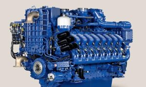 Rolls Royce MTU 16V 4000 M73L engine with 2.700 kW at 1.850 rpm.