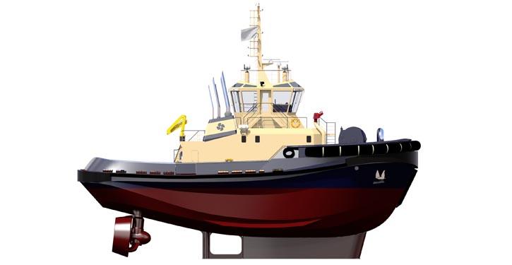 Sanmar Built Robert Allan / Rastar 2900sx tug.