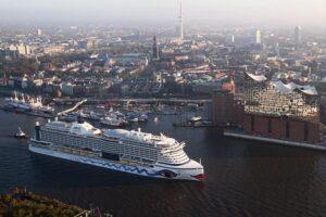 AIDAprima, das schwimmende Wahrzeichen der Hansestadt Hamburg, erhielt Deutschen Kreuzfahrtpreis.