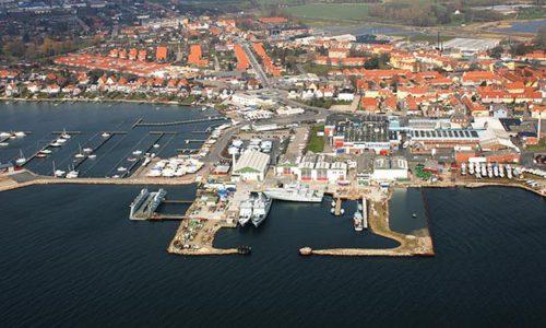 Die Faaborg-Werft im gleichnamigen Faaborg/Dänemark.