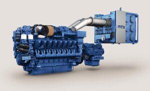 MTU-Antriebssystem aus Dieselmotoren der Baureihe 4000 und SCR-System zur Abgasnachbehandlung für die Emissionsrichtlinien IMO III und EPA Tier 4.