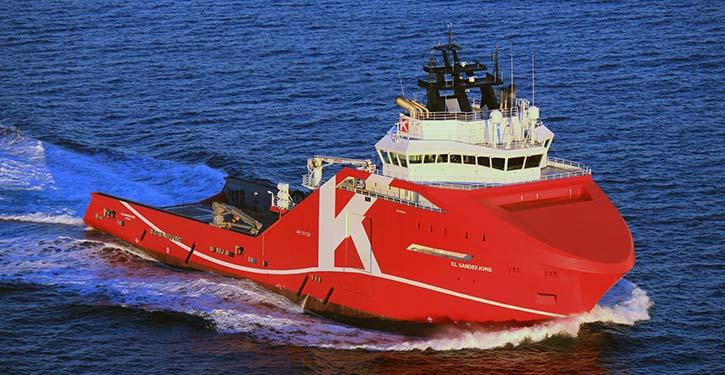The offshore vessel KL SANDEFJORD.