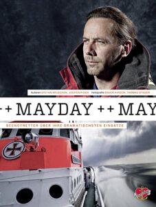 """""""Mayday"""" Buchcover."""
