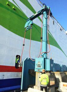 Die neue Landstromanlage für Stena Line im Hafen Trelleborg.