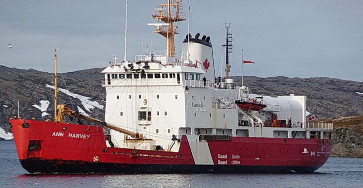 Canadian Coast Guard's vessel Ann Harvey.
