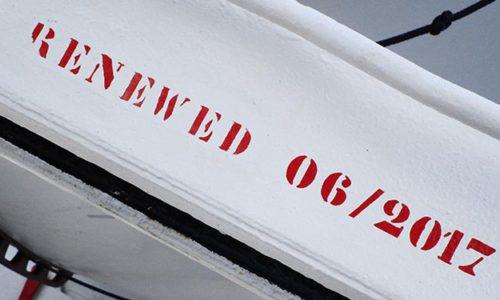 """""""Renewed 2017"""": Alle Sicherheitseinrichtungen wurden im 49. Betriebsjahr noch einmal gründlich überholt."""