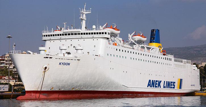 Die KYDON stieß 1999 als SOPHOKLES V. zur ANEK Lines-Flotte.