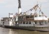 Das 1912 erbaute Schaufelradschiff Schönbrunn